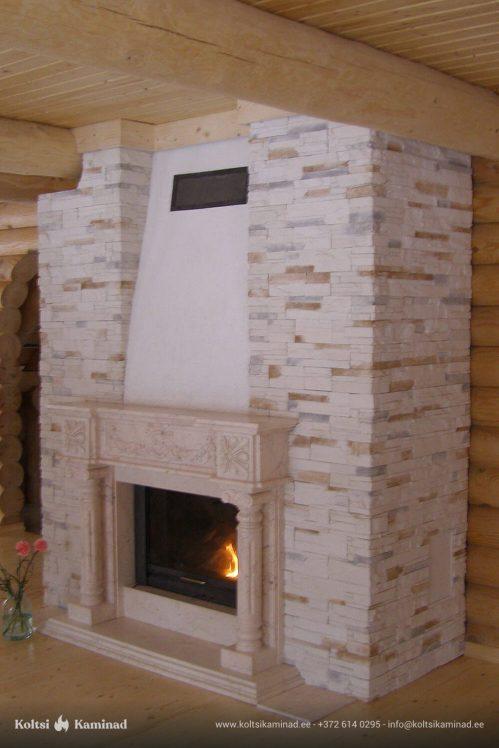 Kamin marmor fassaadiga