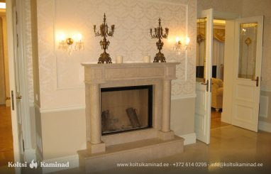 Kamin marmor fassaadiga M-design 850V kaminasüdamik