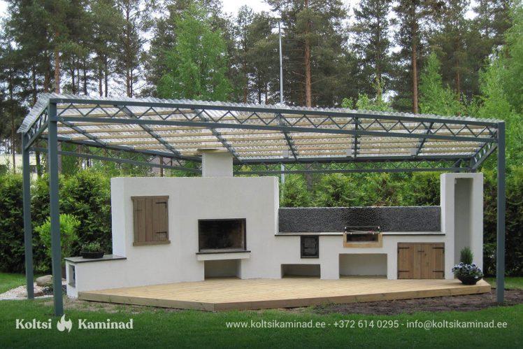 välikamin läbipaistev katus